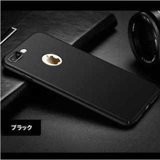 スマホケース ブラック iPhone7/8 極薄 かっこいい おしゃれ シンプル(iPhoneケース)