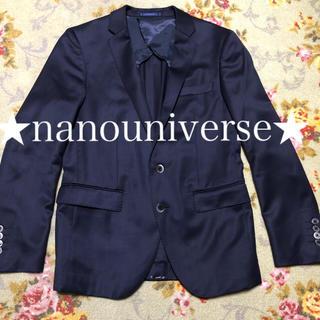 ナノユニバース(nano・universe)の★nanouniverse★ テーラードジャケット ネイビー(テーラードジャケット)