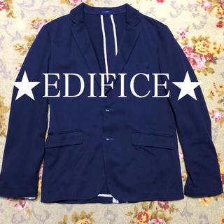 エディフィス(EDIFICE)の★EDIFICE★ テーラードジャケットネイビー 美品(テーラードジャケット)