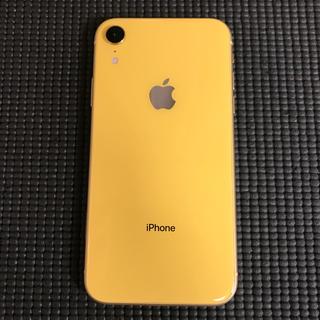 アイフォーン(iPhone)のiPhone XR 64gb イエロー 本体 美品 au(スマートフォン本体)
