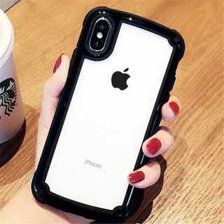 ブラック iphone7/8iphoneケース シンプル バイカラー(iPhoneケース)