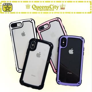 iPhone8 7 iPhoneX Xs クリアフレーム クリアカバー ケース(iPhoneケース)