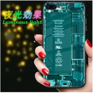 スケルトン 基板 iPhoneXS X ケース 蛍光効果 TPU ソフト 耐衝撃(iPhoneケース)