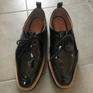 ザラ(ZARA)の使用感あり!ZARA プラットフォーム ブルーチャーシューズ 38(ローファー/革靴)