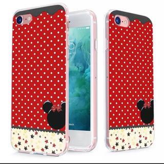 ディズニー(Disney)のドット柄 ミニー iPhone7 8 用 スマホケース (iPhoneケース)