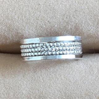 (19)つぶつぶ模様 ピンキーリング  シルバー アンティーク(リング(指輪))