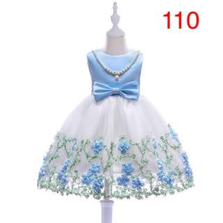 110大人気 ネックレス リボン 付き ドレス 結婚式 発表会