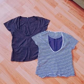 ムジルシリョウヒン(MUJI (無印良品))の美品 無印良品 授乳服 半袖 Tシャツ マタニティ(マタニティトップス)