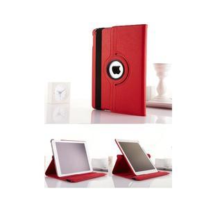 iPad mini /2/ 3/ レッド 360度回転機能付き レザーケース(iPadケース)