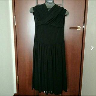 ダナキャランニューヨーク(DKNY)のDKNY ストレッチ ワンピース 黒 ゆったり 大きいサイズ(ひざ丈ワンピース)