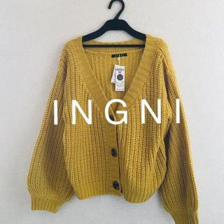 イング(INGNI)の新品★ I N G N Iイング★片畦/ショートカーディガン(カーディガン)
