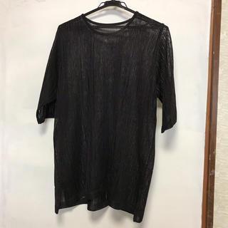 ミセス 半袖 ニット カットソー (大きいサイズ)(ミディアムドレス)