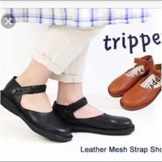 トリッペン(trippen)のトリッペン アイドル 37 メッシュストラップ ラウンドトゥ レザーシューズ(ローファー/革靴)
