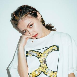 エックスガール(X-girl)のジョジョ TシャツX-girl 白 Mサイズ(Tシャツ(半袖/袖なし))