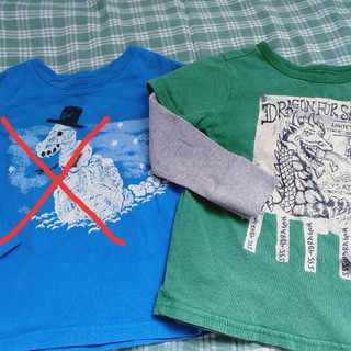 ベビーギャップ(babyGAP)の2枚おまとめ 100 babyGAP 長Tシャツ(Tシャツ/カットソー)