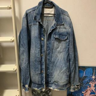ザラ(ZARA)のzara damage denim jacket(Gジャン/デニムジャケット)