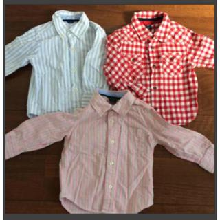 ベビーギャップ(babyGAP)のベビーキャップ 3点セット 長袖シャツ 95(Tシャツ/カットソー)