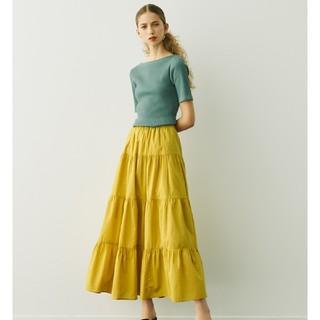GU - ティアードフレアロングスカート