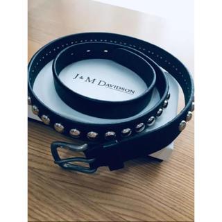 ジェイアンドエムデヴィッドソン(J&M DAVIDSON)のj&m davidson ドームスタッズベルト 【DRAWER別注】(ベルト)
