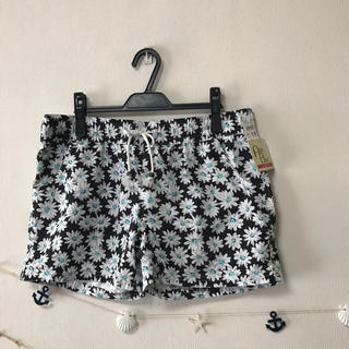 新品/L Lサイズ/レディース 水着用 スウィム用 花柄 ショートパンツ(水着)