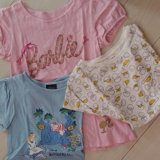 ジーユー(GU)の☆140cm 女の子 Tシャツ 3着 通学 ユニクロ GU(Tシャツ/カットソー)