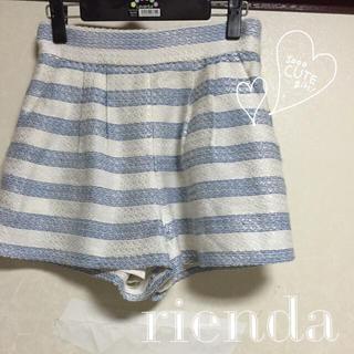 リエンダ(rienda)の【着画あり】 rienda  ボーダーショートパンツ♡(ショートパンツ)