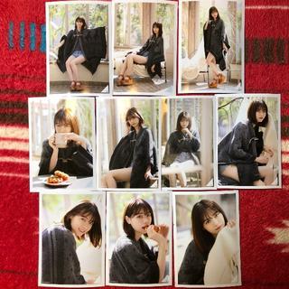 【西野七瀬】卒業 マントコート/チャコールグレイ 10枚コンプ(アイドルグッズ)