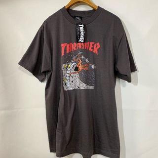 スラッシャー(THRASHER)のTHRASHER スラッシャー  Tシャツ チャコールグレー L(Tシャツ/カットソー(半袖/袖なし))