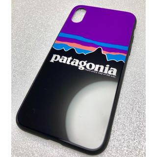 パタゴニア(patagonia)のパタゴニア patagonia iPhoneケース スマホケース 紫黒(iPhoneケース)