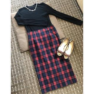 ザラ(ZARA)のZARA チェックタイトスカート♡(ひざ丈スカート)