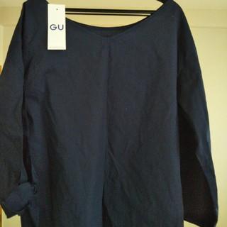 ジーユー(GU)のレディースロングTシャツ(Tシャツ(長袖/七分))