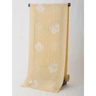 【洗える夏のきもの】化繊 紗紬風 小紋反物 NO.13 【化繊夏着尺 薄物】(着物)