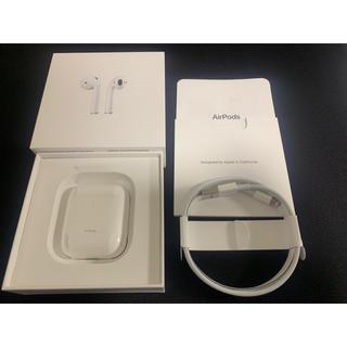 アップル(Apple)の(第2世代) Apple AirPods with Charging Case(ヘッドフォン/イヤフォン)