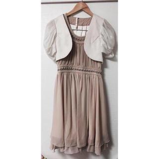 メルロー(merlot)の結婚式 パーティ ドレス フォーマルドレス (ミディアムドレス)