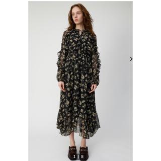 マウジー(moussy)のMOUSSY  DENSE FLOWER ドレス正規品 完売品サイズ1(ロングワンピース/マキシワンピース)