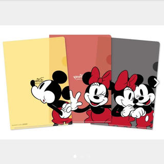 ディズニー(Disney)の【非売品】ミニクリアファイルセット ミッキー ミニー(クリアファイル)