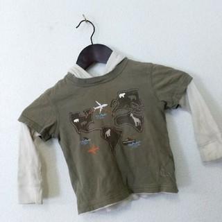 ベビーギャップ(babyGAP)のキッズ baby GAP ベビーギャップ ロンT 重ね着風 90サイズ(Tシャツ/カットソー)