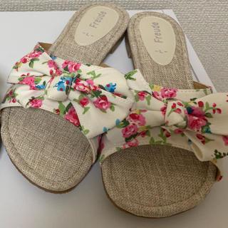 シマムラ(しまむら)の【新品】花柄サンダル (サンダル)