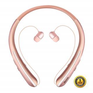 ★大人気★ Bluetooth ネックバンドイヤホン ワイヤレス ローズゴールド(ヘッドフォン/イヤフォン)
