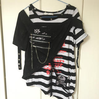 エーシーディーシーラグ(ACDC RAG)のPUNKSボーダーTシャツ(Tシャツ(半袖/袖なし))