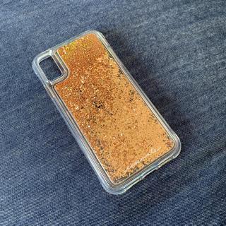 アイフォリア(IPHORIA)のIPHORIA キラキラ ゴールド スパンコール iphone xs max(iPhoneケース)