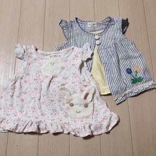 クーラクール(coeur a coeur)の女の子 ノースリーブ 2点セット 70(Tシャツ)