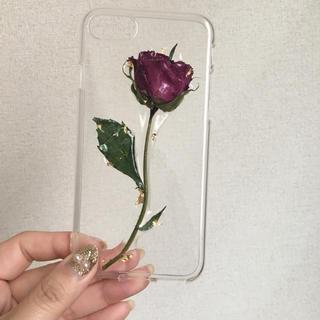 薔薇 iPhoneケース ドライフラワー ハンドメイド(スマホケース)