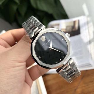 ヴェルサーチ(VERSACE)の[VERSACE] ヴェルサーチ 腕時計 レディース シルバー(腕時計)