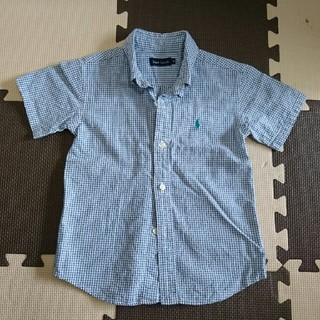 ラルフローレン(Ralph Lauren)のラルフローレン 半袖シャツ チェック 110(Tシャツ/カットソー)