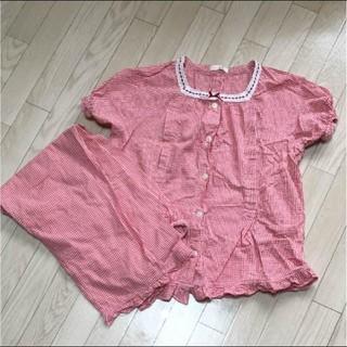 シマムラ(しまむら)の授乳口つきパジャマ チェック (マタニティパジャマ)