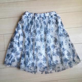 シマムラ(しまむら)のチュールスカート お値下げ(ひざ丈スカート)