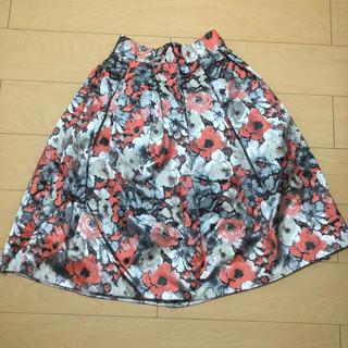 アンティックラグ(antic rag)の新品未使用タグ付き 花柄スカート(ひざ丈スカート)