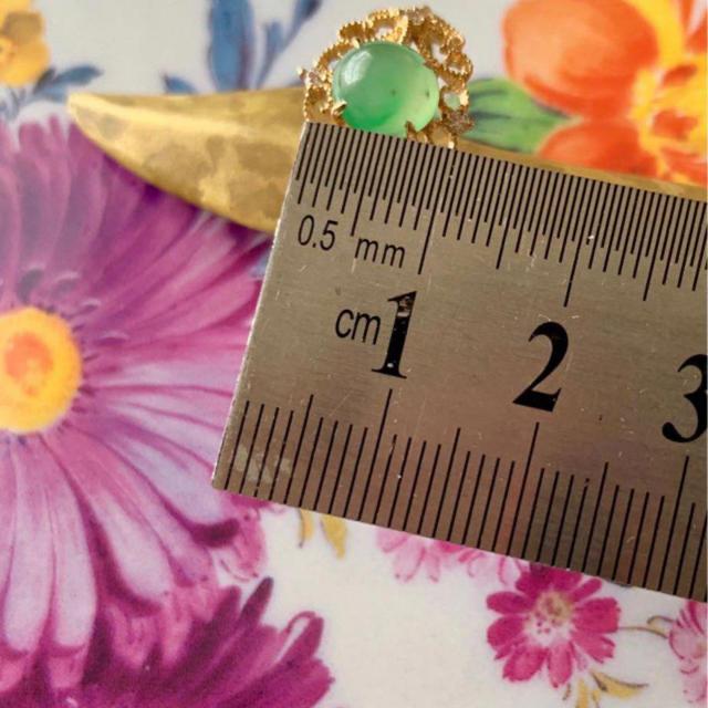 G18k翡翠リング レディースのアクセサリー(リング(指輪))の商品写真