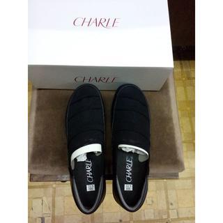 シャルレ(シャルレ)のシャルレのタウンシューズ、黒 軽量 靴 メッシュ ブラック(その他)